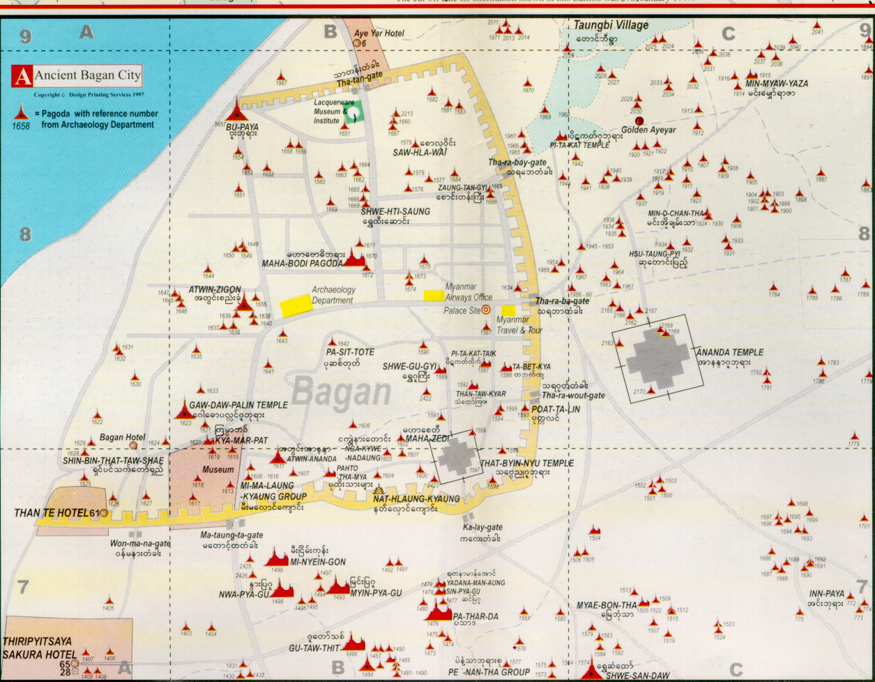 Myanmar Map of Bagan images